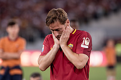 May 28, 2017 - Rome, Italy - Francesco Totti looks dejected after his last  appearance in Rome after more than 20 years during the Serie A match between Roma and Genoa at Stadio Olimpico, Rome, Italy on 28 May 2017. (Credit Image: © Giuseppe Maffia/NurPhoto via ZUMA Press)
