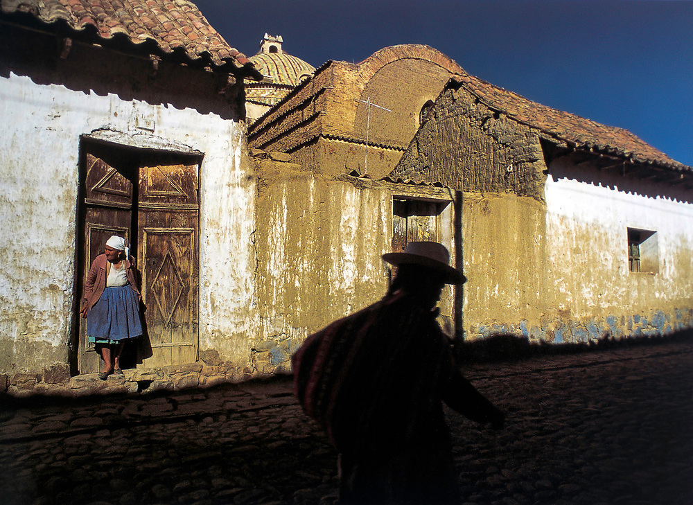 Late afternoon shadows in the village of Arani, near Cochambamba