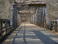 Iron Frame Bridge over the Big Piney River on Historic Old US Route 66 near Devils Elbow, MO