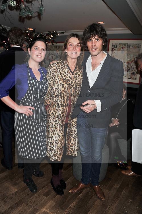 Left to right, GIOCONDA SCOTT, CHARLOTTE SCOTT and JACKSON SCOTT at a Taste of Trasierra at the Brompton Bar & Grill, Knightsbridge, London on 28th November 2011.