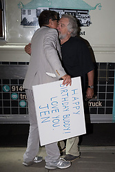 EXCLUSIVE: Robert De Niro, show turned 75 on Friday, continues the birthday celebrations at the Greenwich Hotel Sunday. A few close friends came over to celebrate with De Niro including an old friend Martin Scorsese. De Niro, who's one of the owners of Nobu, skipped the sushi as guests were served from Walter's Hotdog truck on the street. 19 Aug 2018 Pictured: Robert De Niro. Photo credit: TM / MEGA TheMegaAgency.com +1 888 505 6342