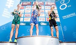 06.07.2013, Kitzbuehel, AUT, ITU World Championship, Dextro Energy Triathlon Kitzbuehel, Elite Damen, im Bild Emma Jackson (AUS), Jodie Stimpson (GBR), Anne Haug (GER) // Emma Jackson (AUS), Jodie Stimpson (GBR), Anne Haug (GER) during Elite Women of ITU World Championship Dextro Energy Triathlon Kitzbuehel, Austria on 2013/07/06. EXPA Pictures © 2013, PhotoCredit: EXPA/ Juergen Feichter