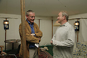 Martin Cloones and Harry Enfield, The Cornish Birthday party to Celebrate John Betjeman's Centenary. Carruan Farm. Polzeath. Conrwall. In aid of the new Padstow Lifeboat Station. 28 August 2006. ONE TIME USE ONLY - DO NOT ARCHIVE  © Copyright Photograph by Dafydd Jones 66 Stockwell Park Rd. London SW9 0DA Tel 020 7733 0108 www.dafjones.com