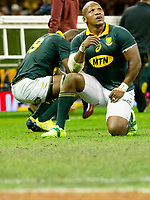 Rugby Union - 2017 Under Armour Series (Autumn Internationals) - Wales vs. South Africa<br /> <br /> Bongi Mbonambi South Africa  looks to the skies after SA lose , at The Principality Stadium (Millennium Stadium), Cardiff.<br /> <br /> COLORSPORT/WINSTON BYNORTH