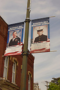 Northcentral Pennsylvania, War vets banners, Mansfield, Tioga Co., PA