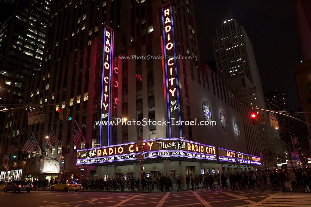 USA, NY, New york city, Manhattan, Radio City Music hall