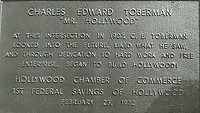 1972 Plaque at the corner of Hollywood & Highland honoring C.E. Toberman
