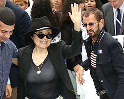 Yoko Ono and Ringo Starr attend the Fifth Annual Come Together: NYC bed-in Celebration at City Hall in New York City.