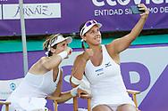 María José Martínez Sánchez (ESP) and Andreja Klepac (SLO)  ?ake a selfie after winning the Mallorca Open at Country Club Santa Ponsa on June 22, 2018 in Mallorca, Spain. Photo Credit: Katja Boll/EVENTMEDIA.