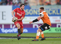 Scarlets Dan Jones<br /> <br /> Photographer Mike Jones/Replay Images<br /> <br /> Guinness PRO14 Round 22 - Scarlets v Cheetahs - Saturday 5th May 2018 - Parc Y Scarlets - Llanelli<br /> <br /> World Copyright © Replay Images . All rights reserved. info@replayimages.co.uk - http://replayimages.co.uk