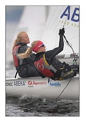 470 Class European Championships Largs - Day 6..SWE341, Kajsa SUNDKLEV, Therese ANTMAN, Kungliga Svenska Segels?llskapet