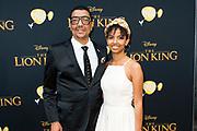Nederlandse galapremiere van de Disney-klassieker Lion King in Pathe Tuschinski, Amsterdam.<br /> <br /> Op de foto:  Jorgen Raymann met zijn dochter