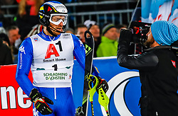 23.01.2018, Planai, Schladming, AUT, FIS Weltcup Ski Alpin, Schladming, Slalom, Herren, 2. Lauf, im Bild Manfred Moelgg (ITA) // Manfred Moelgg of Italy reacts after his 2st run of men's Slalom of FIS ski alpine world cup at the Planai in Schladming, Austria on 2018/01/23. EXPA Pictures © 2018, PhotoCredit: EXPA/ Johann Groder