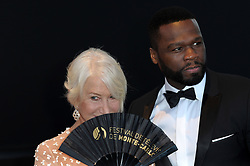 Monte Carlo, 57th Festival of Television. Closing Ceremony Red Carpet. Pictured: Helen Mirren, 50 Cent Curtis Jackson
