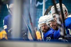 Andrej Hebar of Slovenia, David Rodman of Slovenia and Miha Verlic of Slovenia during ice hockey match between Slovenia and Lithuania at IIHF World Championship DIV. I Group A Kazakhstan 2019, on May 5, 2019 in Barys Arena, Nur-Sultan, Kazakhstan. Photo by Matic Klansek Velej / Sportida