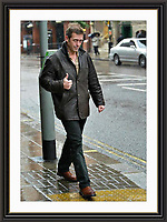 Hugh Laure   stroling in the london rain.22/10/2002   A2 Museum-quality Archival signed Framed Print £500