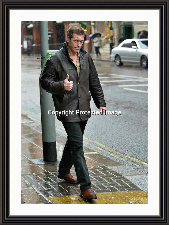 Hugh Laure   stroling in the london rain.22/10/2002   A2 Museum-quality Archival signed Framed Print
