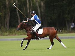 The Duke of Cambridge plays polo in the Khun Vichai Srivaddhanaprabha Memorial Polo Trophy during the King Power Royal Charity Polo Day at Billingbear Polo Club, Wokingham, Berkshire.