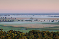 "Biosphärenreservat Niedersächsische Elbtalaue; Mission: Black Storks River Elbe Germany; Biosphere Reserve Middle Elbe; panorama; Landscape ""Lenzer Wische"""