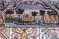 Albanie, Tirana, place Skanderbeg, mosquée Etehem Bey, peinture murale // Albania, Tirana, Skanderbeg square, Etehem Bey mosque, wall painting