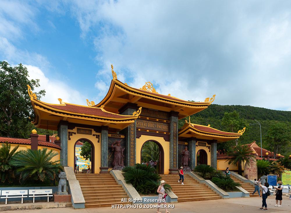 Gates of Ho Quoc Temple in Phu Quoc, Vietnam