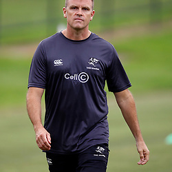 Deane Macquet (Physiotherapist) of the Cell C Sharks during the Cell C Sharks training session from theBox Hill Rugby Union Football Club  RHL Sparks Reserve, Canterbury Rd & Middleborough Road, Box Hill VIC 3128. Melbourne,Australia 18 February 2020. (Photo Steve Haag Sports -Hollywoodbets)