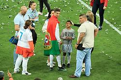 Real Madrid's Cristiano Ronaldo celebrates with his son Cristiano Ronaldo Jr after winning the UEFA Champions League Final at the NSK Olimpiyskiy Stadium, Kiev.