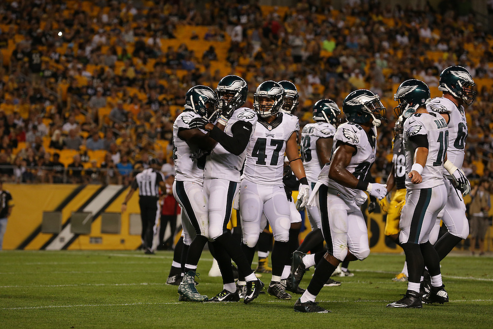 against the Pittsburgh Steelers at Heinz Field on August 18, 2016 in Pittsburgh, Pennsylvania. (Photo by Drew Hallowell/Philadelphia Eagles)