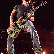 BALTIMORE, MD - May 10th, 2017 - Robert Trujillo of Metallica perform at M&T Bank Stadium in Baltimore, MD on the opening night of their Worldwired Tour 2017. The band released their tenth studio album, Hardwired... to Self-Destruct, in November 2016. (Photo by Kyle Gustafson / For The Washington Post)