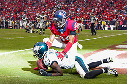 Philadelphia Eagles wide receiver Jeremy Maclin #18 catches the ball in the end zone to score a touchdown in the fourth quarter of the NFL game between the Philadelphia Eagles and the Houston Texans at NRG Stadium in Houston, Texas on Sunday November 2nd 2014. The Eagles won 31-21. (Brian Garfinkel/Philadelphia Eagles)
