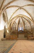 Palais des Rois de Majorque, Palace of the Majorca Kings. Church. Perpignan, Roussillon, France.