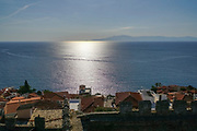 View of the city and the Sea from the city old town of Kavala,  Macedonia, Greece