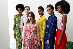 Designer Jordana Warmflash with models at Novis Fashion Presentation during New York Fashion Week Spring Summer 2018 held in New York, NY on September 7, 2017. (Photo by Jonas Gustavsson/Sipa USA)