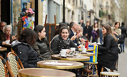 Students participate in the Trinity College study abroad program in Paris, France on Thursday, March 31, 2011. (Photo © Jock Fistick)