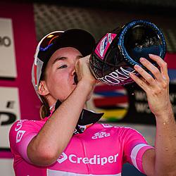 18-09-2020: Wielrennen: Giro Rosa: San Marco la Catola<br /> Anna van der Breggen (Netherlands / Boels - Dolmans Cycling Team) wil start in the finale stage in the Maglia Rosa18-09-2020: Wielrennen: Giro Rosa: San Marco la Catola