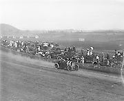 """0611-38. car number 44 on race track, sign in background reads: """"Portland's Big Fa_ Race Meeting, August 26, September 2, $25.000 in Purses"""". Portland, Oregon."""