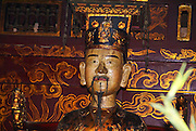 Vietnam, Hoa Lu, capital of Vietnam in the 10th and 11th centuries. Emperor Dinh Tien Hoang in the Dinh Tien Hoang Temple