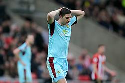 Burnley's Stephen Ward show his dejection
