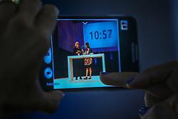 Público acompanha a conversa entre Washington Olivetto e Carla Pernambuco durante o VOX - The Joy of Sharing, evento que  pretende provocar reflexões sobre o futuro da comunicação a partir do compartilhamento de conteúdo e experiências. FOTO: Jefferson Bernardes/ Agência Preview