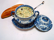Fish Soup Stew in Tureen