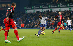 Saido Berahino of West Brom scores a goal to make it 2-0 - Photo mandatory by-line: Rogan Thomson/JMP - 07966 386802 - 11/02/2015 - SPORT - FOOTBALL - West Bromwich, England - The Hawthorns - West Bromwich Albion v Swansea City - Barclays Premier League.
