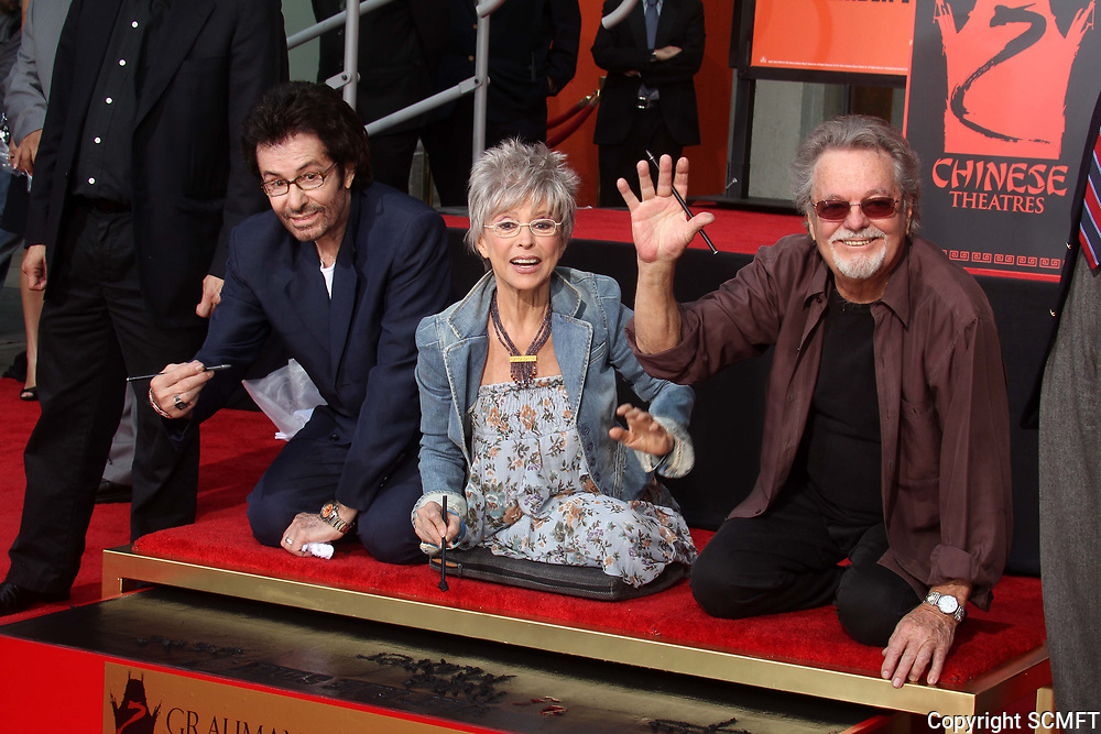 11/15/2011 George Chakiris, Rita Moreno, & Russ Tamblyn at their hand/footprint ceremony at the Chinese Theater