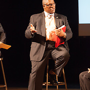Kansas City Mayor Sly James prior to the 2014 State of the City address at Park Hill High School, March 24, 2014.