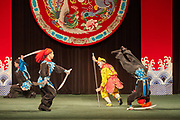 Fight scene from the Taipei Eye Chinese Opera troupe performance of The Monkey King Fights The Spider Goblin. The drama is an excerpt from the classical Chinese story Journey To The West.