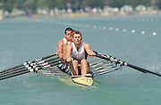 26/08/2003 Tuesday.2003 World Rowing Championships, Milan, Italy.. Milan. ITALY 2003 NOR M4X.  World Rowing Championships. Idro Scala Rowing Course. [Mandatory Credit: Peter Spurrier: Intersport Images.]