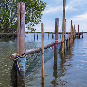 CAPTION: With high rates of erosion and rising sea levels, the area pictured - which was once used for fish farming - is now completely submerged by seawater. LOCATION: Tapak, Semarang, Indonesia. INDIVIDUAL(S) PHOTOGRAPHED: N/A.