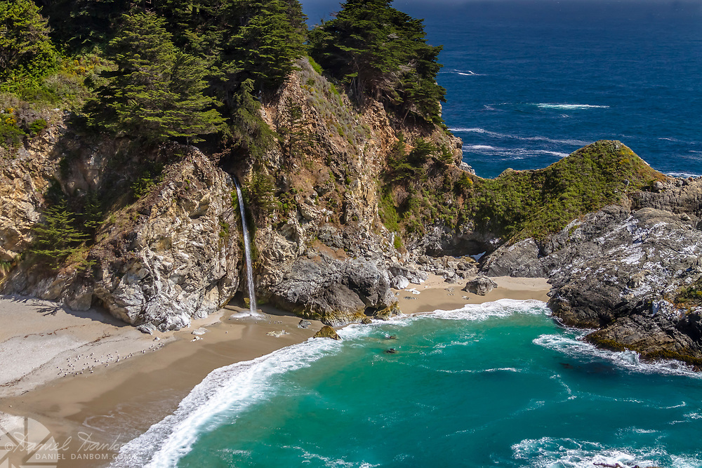 McWay Falls at Julia Pfeiffer Burns State Park, Big Sur Coast, California, along Highway 1