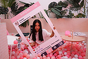 Deeptea is a teahouse in Rizhao where half the teahouse is a gigantic bath tub full of plastic balls, a pink panther and a huge instagram frame. the idea is to get couples to take photographs of each other. The images are posted on instagram, which attracts other potential customers who come also to make an instagram or other type of internet social networking photograph. They will drink tea as well. Rizhao China