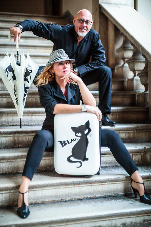 22 SEP 2014 - Brescia - Barbara Veronesi e Roberto Fiegl - Aqueodesign, H.DUE.O, ombrelli, trolley, accessori.