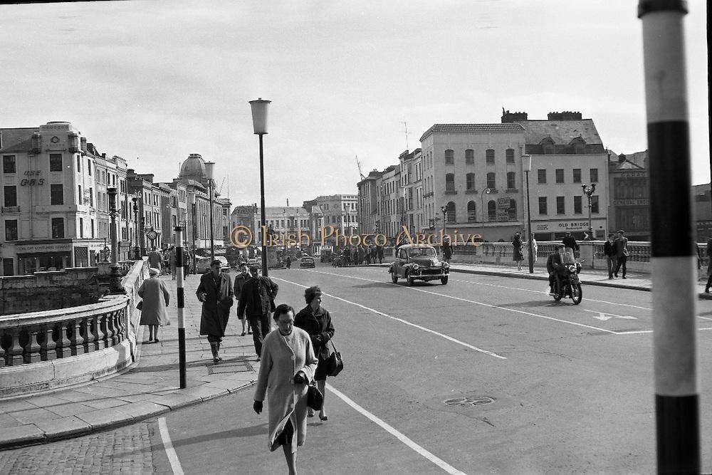 View of Cork City. Patrick's Street from the bridge..26.05.1962